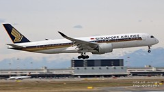 9V-SMT Singapore Airlines Airbus A350-941 (Nick Air Aviation Photography) Tags: img4076 9vsmtsingaporeairlinesairbusa350941 aereoportomilanomalpensa milanmxpairport atterraggio aviationphotography aircraft panning