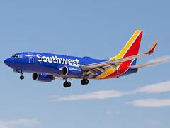 N7708E (ChrischMue) Tags: southwest airlines boeing b73776nwl las vegas mccarran international klas n7708e