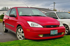 2001 Ford Focus ZX3 (mlokren) Tags: 2019 car spotting fomoco ford motor company 2001 focus zx3 hatchback red