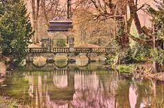 Barockbrücke (flowerikka) Tags: barockbrücke bridge green grass mirror park pond reflection schlosdyck spiegelungen teich trees wasser water