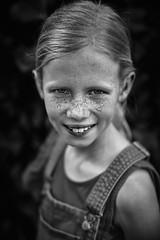 Dungaree 1 (PascallacsaP) Tags: portrait freckles smile teeth dungarees blackandwhite bw monochrome mitakon zhongyi speedmaster 35mm f095 markii bokeh bokehlicious shallowdof dungaree