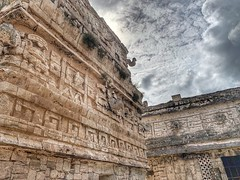 Ruins at Chichen Itza (The Wide Wide World) Tags: hdr iphonephotography iphone temple ruins mayan archeology yucatán mexico chichenitza