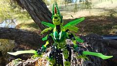 Bionicle M.O.C. - Friema, the Elegant Butterfly (Makuta Alvarez) Tags: bionicle lego butterfly green moc makuta alvarez humanoid sword swords battle skirt toy model