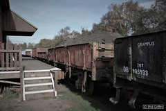 The Goods Yard (Wheeltapper Images) Tags: great central railway wagons siding goods yard quorn woodhouse station mineral ballast coal ash train freight