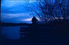 Sunset at Grandriver! (clicksnframes) Tags: ontario cambridge canada color landscapephotography landscape slidefilm e6 ektachrome istillshootfilm filisnotdead rangefinder bench river park sky blue sunset autos2 konica e200 kodak film 35mm