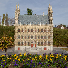 Mini-Europe, Brussels (itmpa) Tags: brussels brusselscapitalregion belgium be minieurope europe miniature miniaturepark stadhuis leuven townhall cityhall square crop cropped