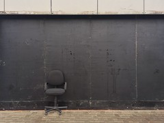 Invisible Person On Hidden Chair (joostmarkerink) Tags: minimal wall black chair