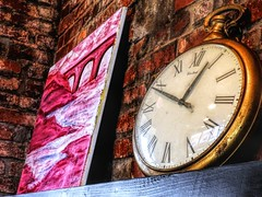I am Late, I am Late (clarkcg photography) Tags: watch pocketwatch clock time slipping away hands numbers painting bricks color saturated saturatedsaturday whiterabbit late date