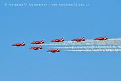 9906 7 ship arrival loop R1 R2 R3 R5 R6 R7 R9 (photozone72) Tags: raf rafat redarrows reds redwhiteblue aviation aircraft jets hawk canon canon100400f4556lii canon7dmk2 7dmk2 scampton lincolnshire