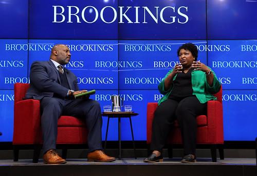 Political leader Stacey Abrams gives her by BrookingsInst, on Flickr