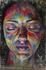 Face painting (Edgard.V) Tags: streetart arte urbano urban mural callejero portrait female femina mulher femme beauté beauty charm charme bellezza belera makeup maquillage maquillagem trucco