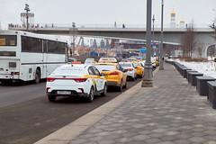 (Бесплатный фотобанк) Tags: москворецкая набережная россия москва зима пасмурно такси