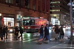 009 -1fwlcon (citatus) Tags: eastbound ttc streetcar 4068 college street yonge main station route 506 toronto canada winter evening night 2018 pentax k5 ii