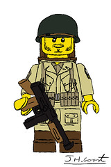 101st Airborne Illustration (jedanimationstudios) Tags: ww2 lego paratrooper illustartion airborne 101st screaming eagles brickarms drawing illustrations graphic