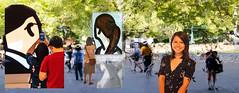 Windows of People (Greenstone Girl) Tags: fotf people ngv exhibition water window digital art julian opie flickrsbest