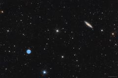 Messier 97 - Messier 108  -  Owl-nebula - Surfboard galaxy (hodorgabor) Tags: astrophoto astrophotography longexposure night nightphotography nebula messier ursamayor owl surfboard sky deepsky stars space dark darksky