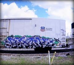 bank (timetomakethepasta) Tags: bank freight train graffiti art armn reefer union pacific