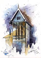 🏠🌃 Urban architecture 🌃🏠 Watercolor sketch. (wittmannsvetlana) Tags: watercolor sketching urban cityscape architecture sketch art