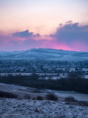 P1070988 (robinalanson1) Tags: steyning upper beeding south downs snow sunrise pink