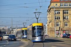 Solaris Tramino NGT10 XL #1013 #1017 LVB Leipzig Lipsk (3x105Na) Tags: solaris tramino ngt10 xl 1013 1017 lvb leipzig lipsk strassenbahn strasenbahn tram tramwaj deutschland germany niemcy sachsen saksonia