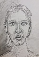Face 76:100 #pencil #drawing (Howard TJ) Tags: watercolor face drawing pencil female 100facechallenge sketch