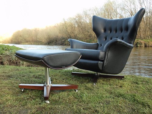 """G Plan 6020 swivel chair & 6021 footstool.Superb condition. • <a style=""""font-size:0.8em;"""" href=""""http://www.flickr.com/photos/69514980@N03/46756341904/"""" target=""""_blank"""">View on Flickr</a>"""