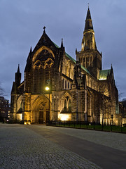 Glasgow Cathedral (buddah1888) Tags: glasgow history interesting iconic january cityscape architecture olympusomdem10mkii olympus scotland spire church leadroofed zuiko17mm overcast bluehour gothic cathedral photochallenge 1794 highkirk