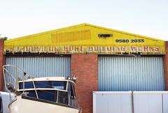 mordialloc boat building works - old sign (75kombi) Tags: mordiallocboatbuildingworks