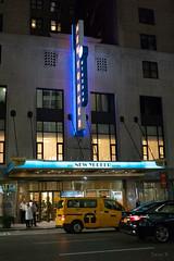 People Arriving (Jocey K) Tags: sonydscrx100m6 triptocanadaandnewyork architecture street people newyorkerhotel hotel cab car illuminations signs