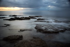 SEA ROCKS AND SKY (sciatore73!) Tags: sea rocks exposure sky livorno tuscany leghorn italy pentax k1 sun sunsted landscape oceano mare roccia paesaggio nave clouds wintersea