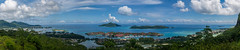 View Point Over Victoria And Eden Island / Панорама Виктории и острова Эдем (dmilokt) Tags: природа nature пейзаж landscape море sea пляж beach пальма palm dmilokt hanks nikon d850 d3