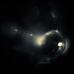 Untitled (graemes83) Tags: pentax vivitar 28mm abstract weird black white monochrome toned ball sphere light dark
