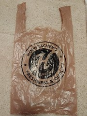 Hornbacher's Bag (TheTransitCamera) Tags: retail store shopping consumer shop hornbachers grocery supermarket food bag plastic disposable carrier sack bolsa plastico