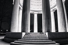 District of Columbia World War I Memorial (John Brighenti) Tags: dc washington districtofcolumbia worldwari war memorial columns night evening solitude dark marble monument blackandwhite bw desaturated greyscale sony alpha a7rii ilce7rm2 sel28f20 wideangle longexposure light nationalmall outside outdoors alone quiet serene