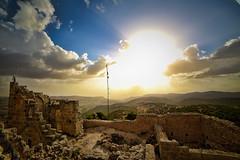 Ancient Ruins (nadeen_aljamal88) Tags: landscape landscapes view views nature natural ancient ruins sunrise sunshine shine shining sun set sunset amman jordan jerash jarash cloud clouds blue