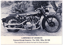 Boanerges (pepandtim) Tags: postcard old early nostalgia nostalgic boanerges thomas edward lawrence arabia ottoman brough superior colonel 73tel74 motorcycle haydn road works