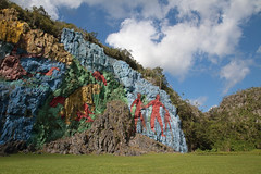 Mural De La Prehistoria Clouds (peterkelly) Tags: digital canon 6d northamerica cuba caribbean gadventures cubalibre viñales muraldelaprehistoria prehistoricpainting blue sky clouds cliff rock rocky
