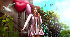 Love Breeze (meriluu17) Tags: glamaffair cupid cupidinc balloon balloons dove doves bird birds bush light lights baby cute doll dolly