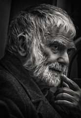 'Wise men say ... ' (Canadapt) Tags: man portrait bw lowkey contemplate consider pensive dark foreboding subway metro lisbon portugal canadapt