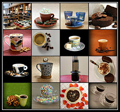 2019 Sydney collage: Coffee Cups #10 (dominotic) Tags: 2019 coffeeobsession food drink biscuits pretzels aeropress chocolatespoon confectionery coffeebeans chocolate foodphotography yᑌᗰᗰy coffeecupcollage coffeecups coffeemugs illycoffeecups coffeeandcupsaucer catcoffeemug sydney australia