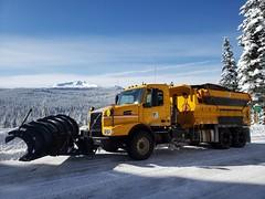 Beautiful day to work for ODOT (OregonDOT) Tags: winter plow snow jobs workisfun