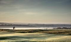 A misty frosty start..xx (shona.2) Tags: misty mist fog foggy golfcourse frosty earlymorning scotland eastlothian gullane green greenkeeper landscape
