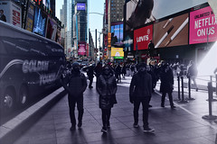 (xtaros) Tags: timessquare nyc newyork pedestrians xtaros colours colors red billboards yellow lights tone toned streetphotography street streetshots candid candidshot offthehip