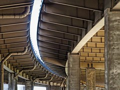 Curved Bridges (2n2907) Tags: steel bridge curved curving curvilinear abstract