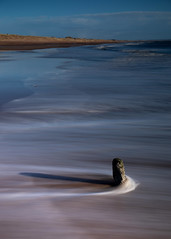 I Stand Alone (PeskyMesky) Tags: aberdeen aberdeenshire blackdog beach longexposure scotland water sea ocean landscape canon canon5d eos