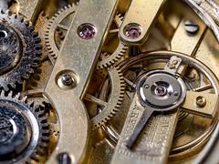 clock work (nheyermeyer) Tags: makro macro raynoxdcr250 stacked timepieces heliconfocus macromondays mzuiko60mmmacro stacking watch taschenuhr uhr