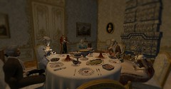 Dinner with Tzarevich (Sofia ~Chateau D'Esprit~) Tags: stpetersburginsl russian russia empire 1776 18th century rp sl roleplay secondlife winter dinner tzarevich tzarevna razumovsky great lent velikiy post tuna fish pregnancy ominous