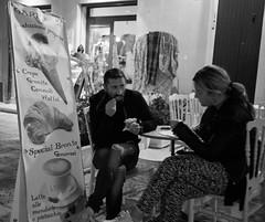 Gelato for two (peter.a.klein (Boulanger-Croissant)) Tags: blackandwhite bw black white blanc noir noiretblanc negro blanco schwarz weiss leica monochrome man woman gelato icecream night sicily italy castellamaredelgolfo