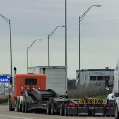 Road monsters (MoparMadman63) Tags: truck orange heavyhauler heavyduty equipment highway freeway interstate wheels road travel transportation city grapevinetx texas