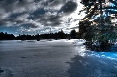 Algonquin HDR (Arvo Poolar) Tags: outdoors ontario canada arvopoolar algonquinpark winter snow ice water landscape hdr clouds nature naturallight natural nikond7000 naturephotography trees